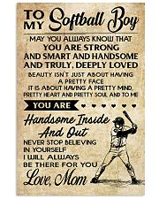 TO MY Softball Boy - Mom 16x24 Poster front