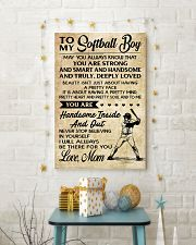 TO MY Softball Boy - Mom 16x24 Poster lifestyle-holiday-poster-3
