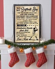 TO MY Softball Boy - Mom 16x24 Poster lifestyle-holiday-poster-4