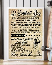 TO MY Softball Boy - Mom 16x24 Poster lifestyle-poster-4