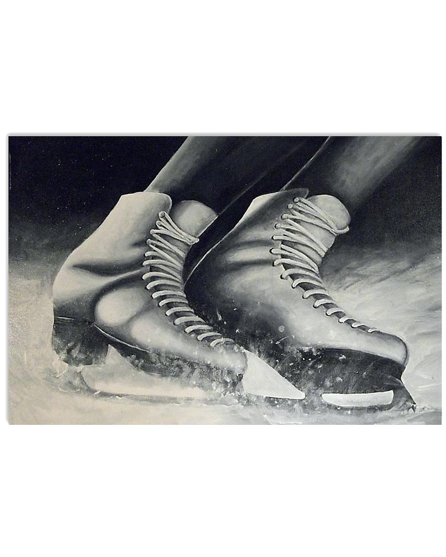 figure skating shoes poster 17x11 Poster