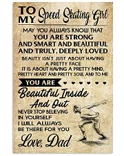 TO MY SPEED SKATING GIRL - DAD 16x24 Poster front