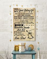 TO MY SPEED SKATING GIRL - DAD 16x24 Poster lifestyle-holiday-poster-3