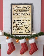 TO MY SPEED SKATING GIRL - DAD 16x24 Poster lifestyle-holiday-poster-4