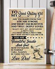 TO MY SPEED SKATING GIRL - DAD 16x24 Poster lifestyle-poster-4