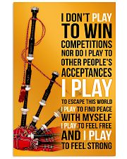 BAGPIPES - I DON'T PLAY TO WIN COMPETITIONS 11x17 Poster front