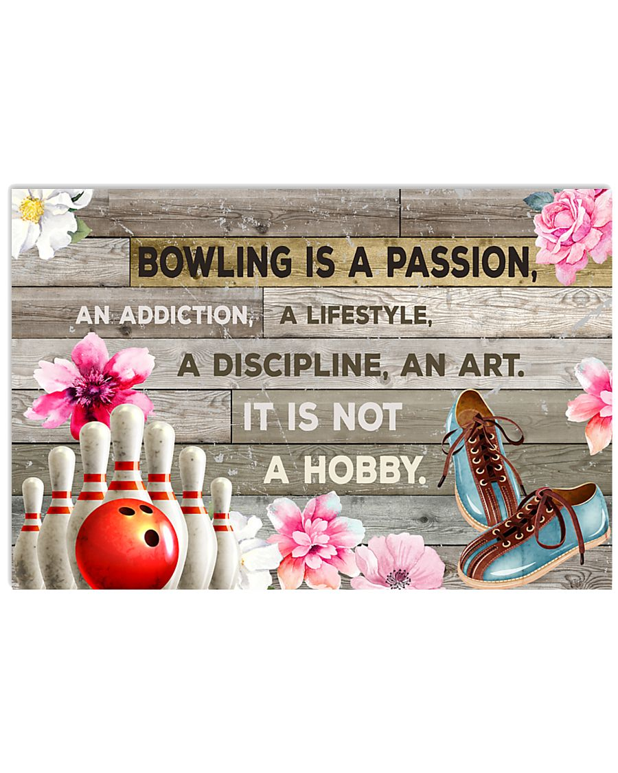BOWLING IS PASSION POSTER 17x11 Poster