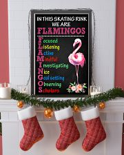 IN THIS SKATING RINK WE ARE FLAMINGOS 11x17 Poster lifestyle-holiday-poster-4