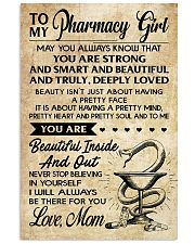 TO MY Pharrmacy Girl 11x17 Poster front