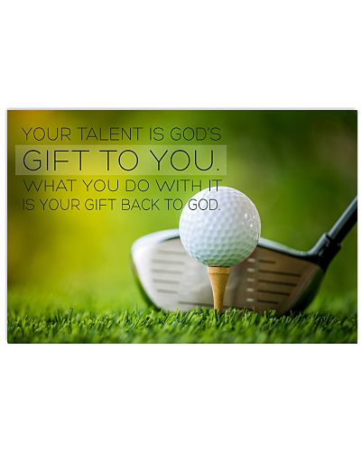 golf- your talent is god's poster LQT