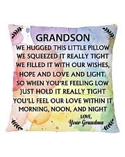 GRANDSON WE HUGGED THIS LITTLE PILLOW Square Pillowcase back