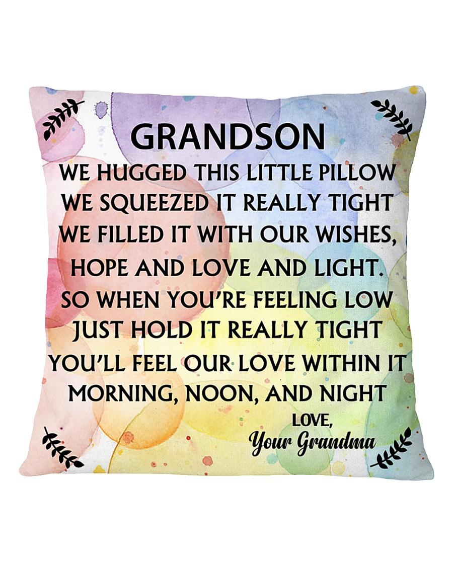 GRANDSON WE HUGGED THIS LITTLE PILLOW Square Pillowcase