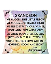 GRANDSON WE HUGGED THIS LITTLE PILLOW Square Pillowcase front