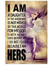 DANCE DAUGHTER - FOR MY GOD 16x24 Poster front