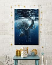 Elephant - Elephant swim in sea Poster - TL 16x24 Poster lifestyle-holiday-poster-3
