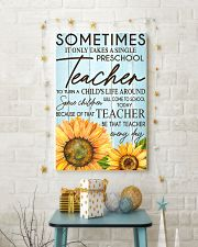 SOMETIMES IT ONLY TAKES A SINGLE PRESCHOOL TEACHER 11x17 Poster lifestyle-holiday-poster-3