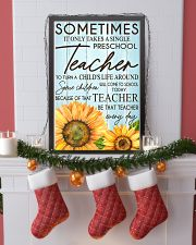 SOMETIMES IT ONLY TAKES A SINGLE PRESCHOOL TEACHER 11x17 Poster lifestyle-holiday-poster-4