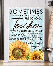 SOMETIMES IT ONLY TAKES A SINGLE PRESCHOOL TEACHER 11x17 Poster lifestyle-poster-4