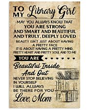 TO MY LIBRARY GIRL- MOM 16x24 Poster front