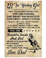 TO MY ICE HOCKEY GIRL - DAD 11x17 Poster front