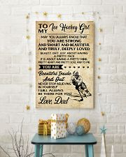 TO MY ICE HOCKEY GIRL - DAD 11x17 Poster lifestyle-holiday-poster-3