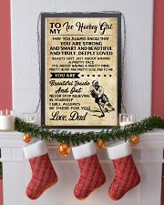 TO MY ICE HOCKEY GIRL - DAD 11x17 Poster lifestyle-holiday-poster-4