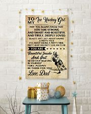 TO MY ICE HOCKEY GIRL - DAD 24x36 Poster lifestyle-holiday-poster-3