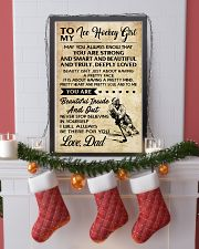 TO MY ICE HOCKEY GIRL - DAD 24x36 Poster lifestyle-holiday-poster-4