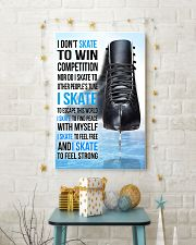 15- I DON'T SKATE TO WIN COMPETITION - black shoes 11x17 Poster lifestyle-holiday-poster-3