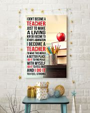 I DON'T BECOME A TEACHER JUST TO MAKE A LIVING 11x17 Poster lifestyle-holiday-poster-3