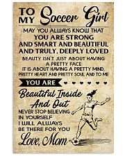 10 TO MY Soccer Girl - Mom 16x24 Poster front