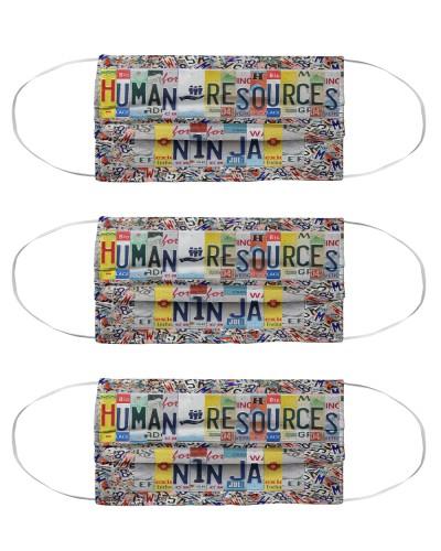 human resources ninja license plates mask