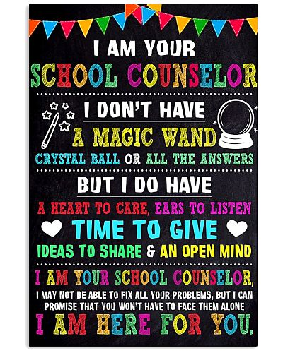 I AM YOUR SCHOOL COUNSELOR POSTER