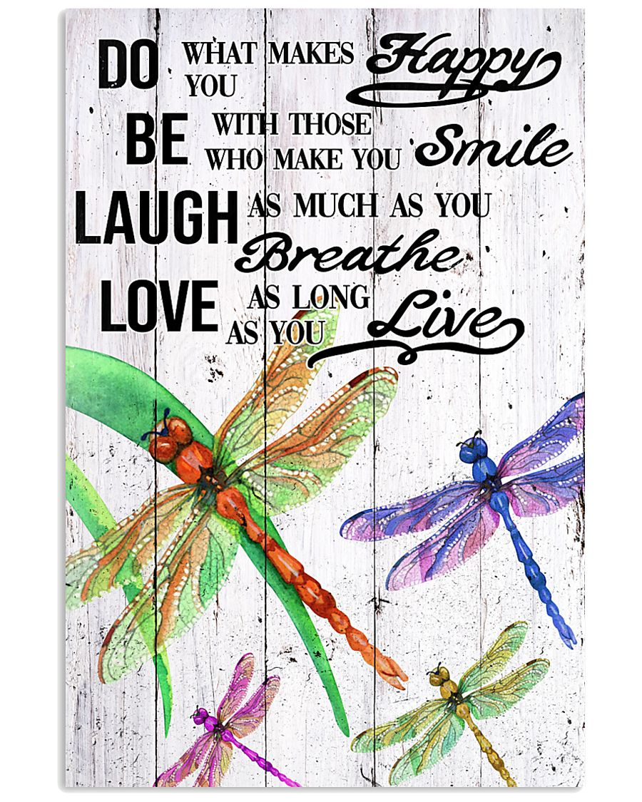 DRAGONFLY DO BE LAUGH LOVE POSTER 11x17 Poster