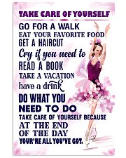 Take care of yourself - SKATING 11x17 Poster front