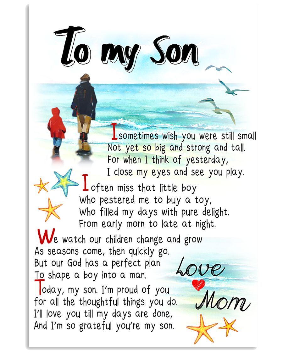 TO MY SON - I SOMETIMES WISH 11x17 Poster