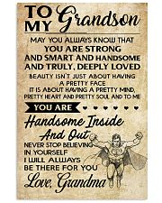 TO MY grandson - grandma 16x24 Poster front