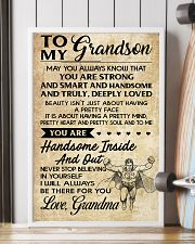 TO MY grandson - grandma 16x24 Poster lifestyle-poster-4