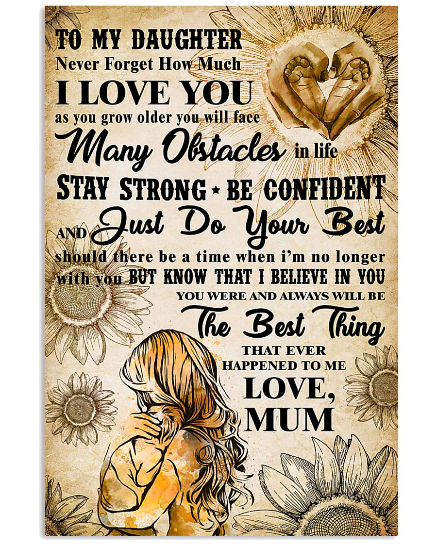 18 TO MY DAUGHTER - I LOVE YOU- Mum 16x24 Poster