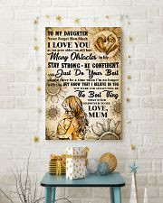 18 TO MY DAUGHTER - I LOVE YOU- Mum 16x24 Poster lifestyle-holiday-poster-3