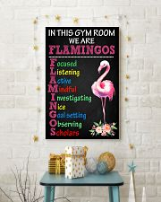7- IN THIS GYM ROOM WE ARE FLAMINGOS 11x17 Poster lifestyle-holiday-poster-3