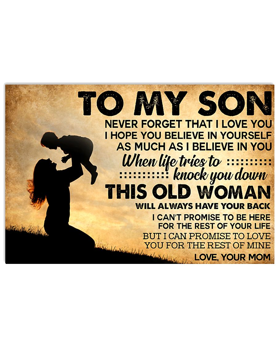 TO MY SON POSTER 17x11 Poster