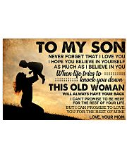 TO MY SON POSTER 17x11 Poster front