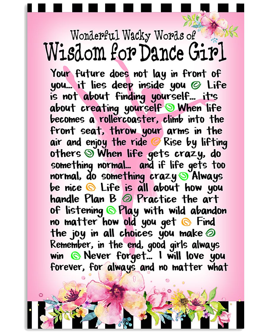 DANCE GIRL - WONDERFUL WACKY WORDS 11x17 Poster