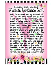DANCE GIRL - WONDERFUL WACKY WORDS 11x17 Poster front