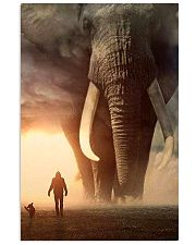 elephant sunset poster 11x17 Poster front