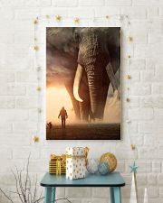 elephant sunset poster 11x17 Poster lifestyle-holiday-poster-3