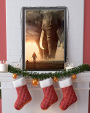 elephant sunset poster 11x17 Poster lifestyle-holiday-poster-4