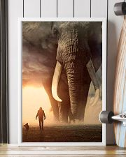 elephant sunset poster 11x17 Poster lifestyle-poster-4