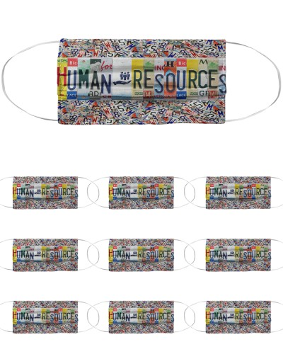 human resources license plates mask